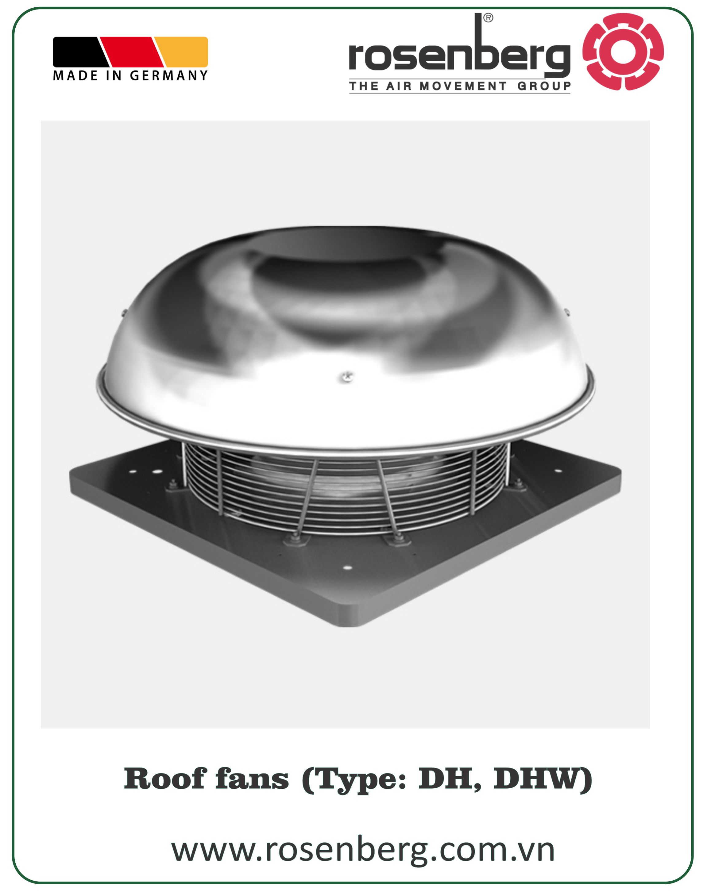 Dhe Roof Fans High Quality From Rosenberg Germany Centrifugal Fan Wiring Diagram Picture Of